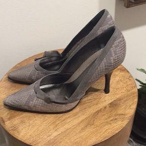 Banana Republic snake skin heels!